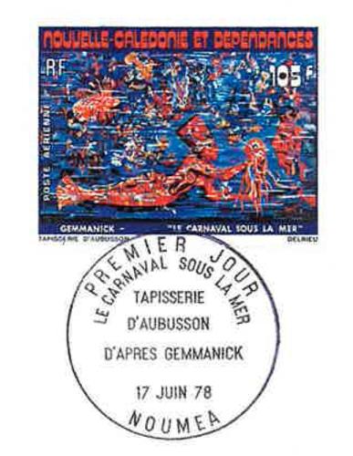 Carnaval sous la mer : le timbre
