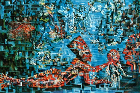 Tapisserie d'Aubusson : Carnaval sous la mer