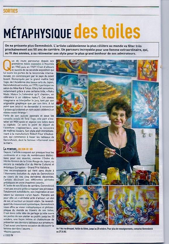 Gemmanick Magazine Nouvelle Calédonie 2014